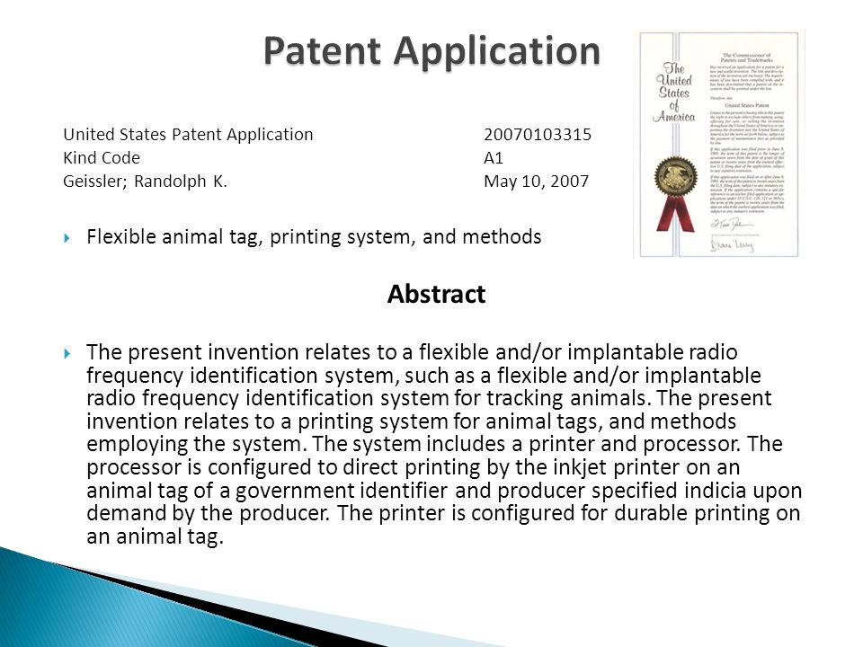 United States Patent Application Kind CodeA1 Geissler; Randolph K.