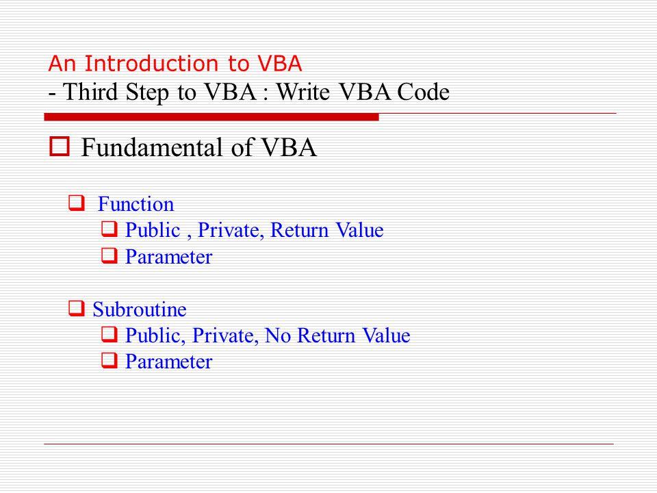 Visio Vba Functions