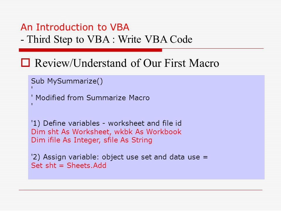 Excel Vba 101 Current Status Waiting Using Excelvba To Speedup. 36 An Introduction. Worksheet. Vba Worksheet As Variable At Mspartners.co