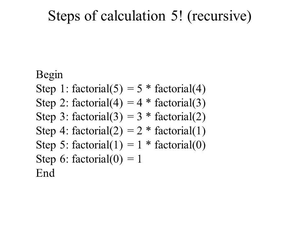 Steps of calculation 5.