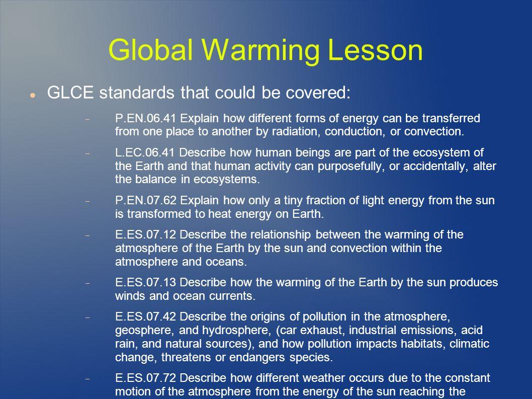 3 minute speech on global warming
