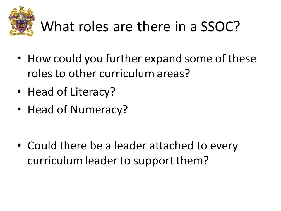 How could you further expand some of these roles to other curriculum areas.