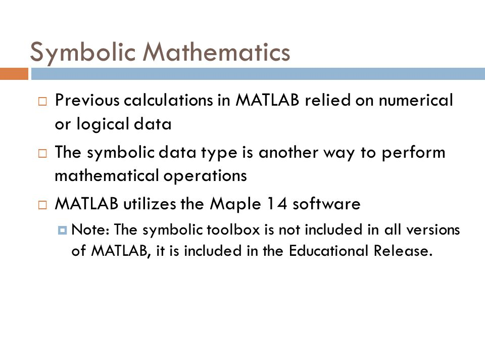 Matlab Fundamentals User Defined Functions The Symbolic Toolbox Hp