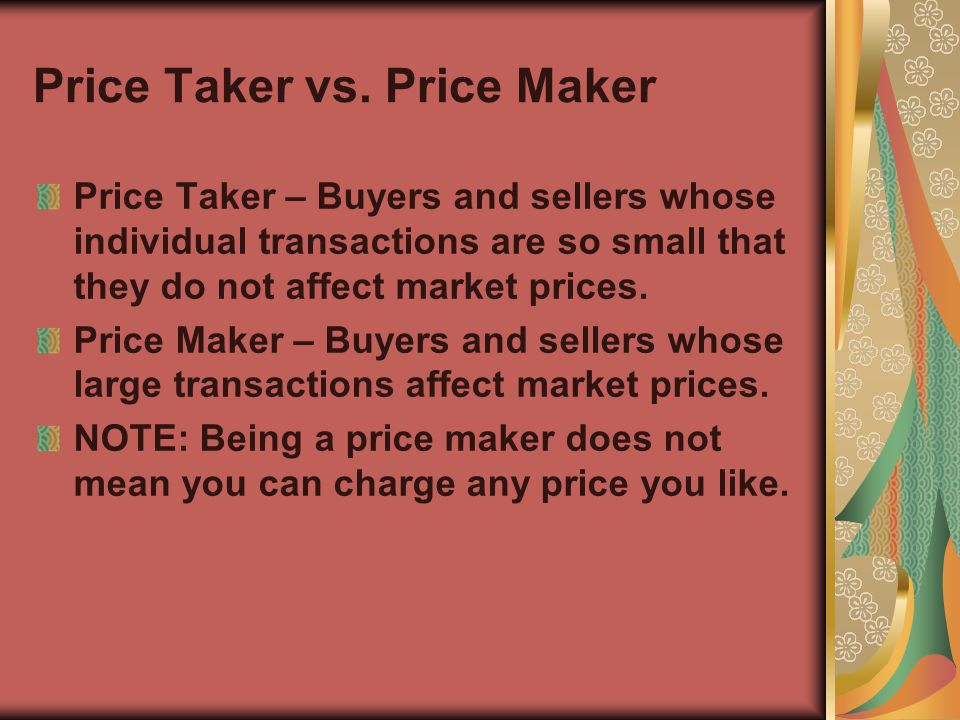 price taker definition