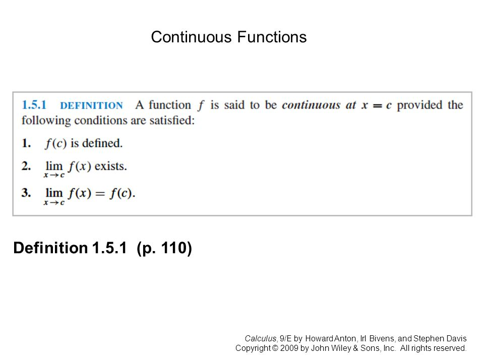 Calculus, 9/E by Howard Anton, Irl Bivens, and Stephen Davis Copyright © 2009 by John Wiley & Sons, Inc.