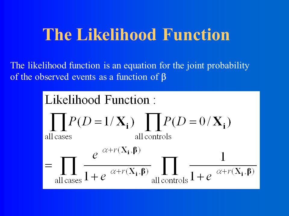 Probabilities associated with each individual's outcome: Individual Probability Functions Example: