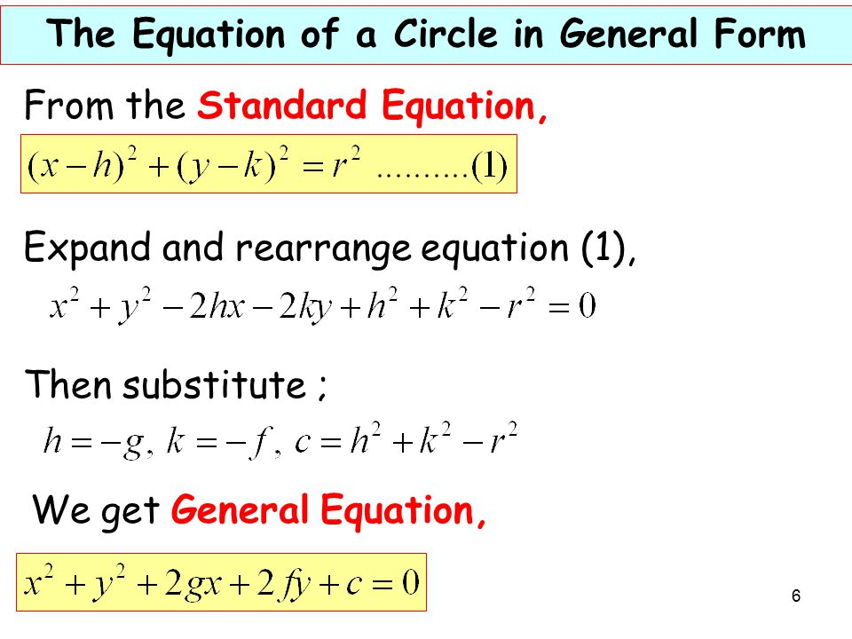 1 Objectives 41 Circles A Determine The Equation Of A Circle