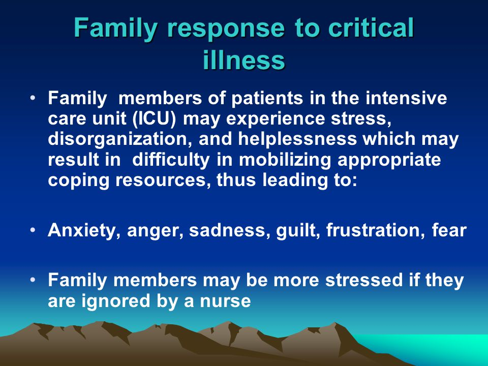 Psychosocial Impact of Critical Illness on the Patients and