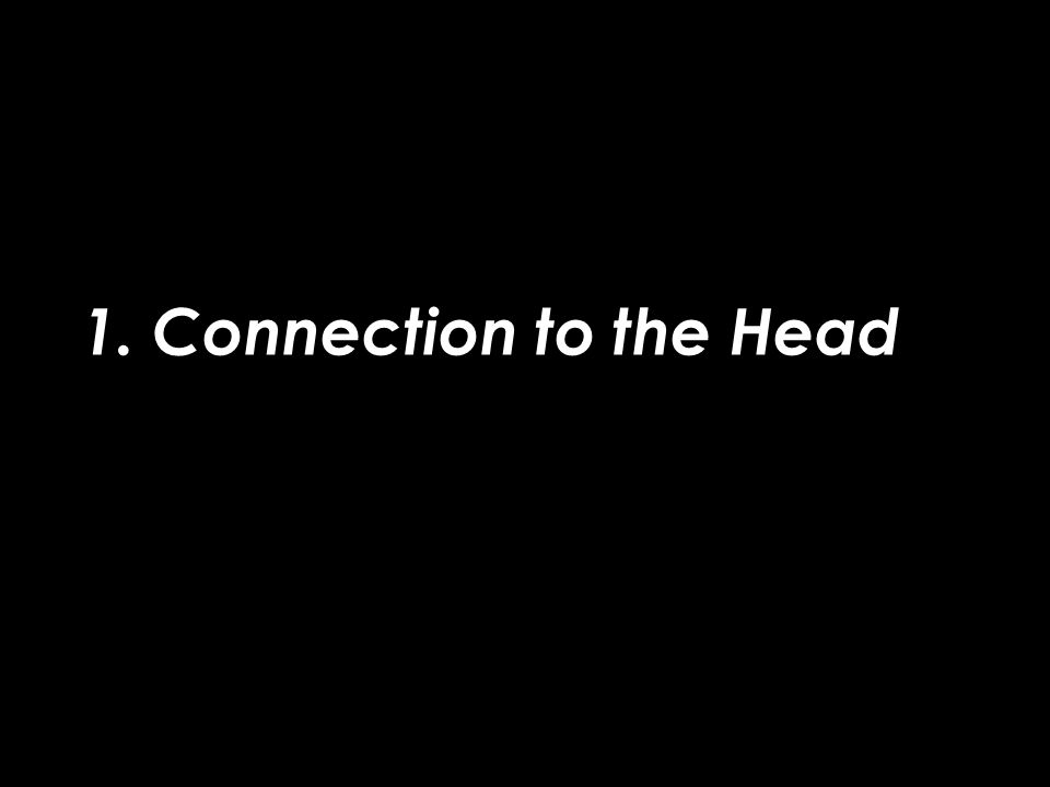1. Connection to the Head