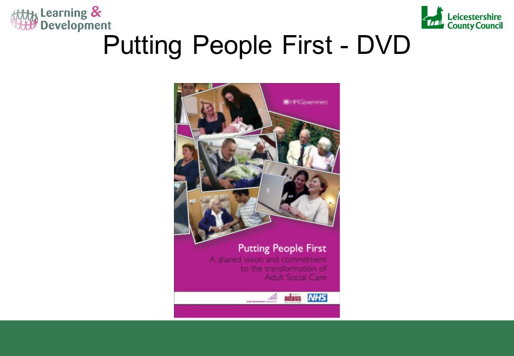 Putting People First - DVD