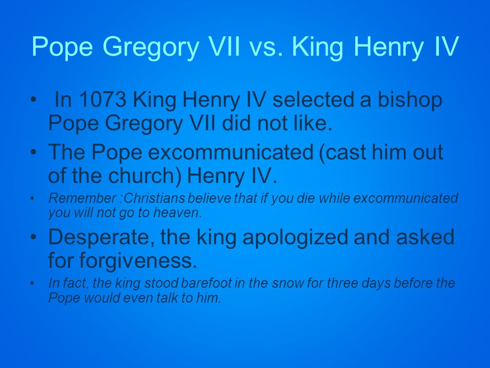Pope Gregory VII vs.