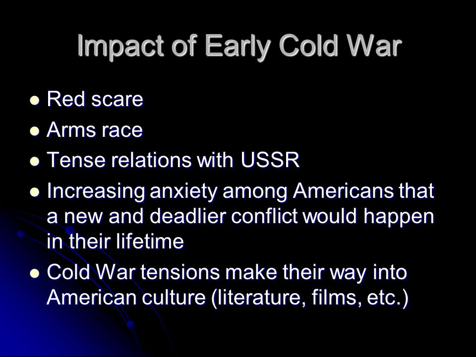 the impact of the cold war on american culture was