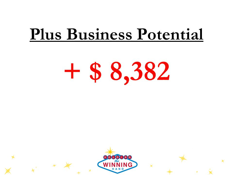 Plus Business Potential + $ 8,382
