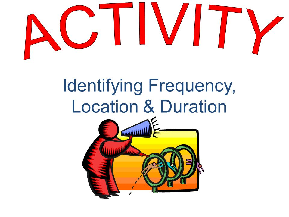 Identifying Frequency, Location & Duration