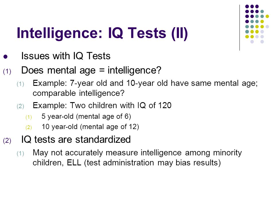 HOW ACCURATE ARE IQ TESTS IN CHILDREN