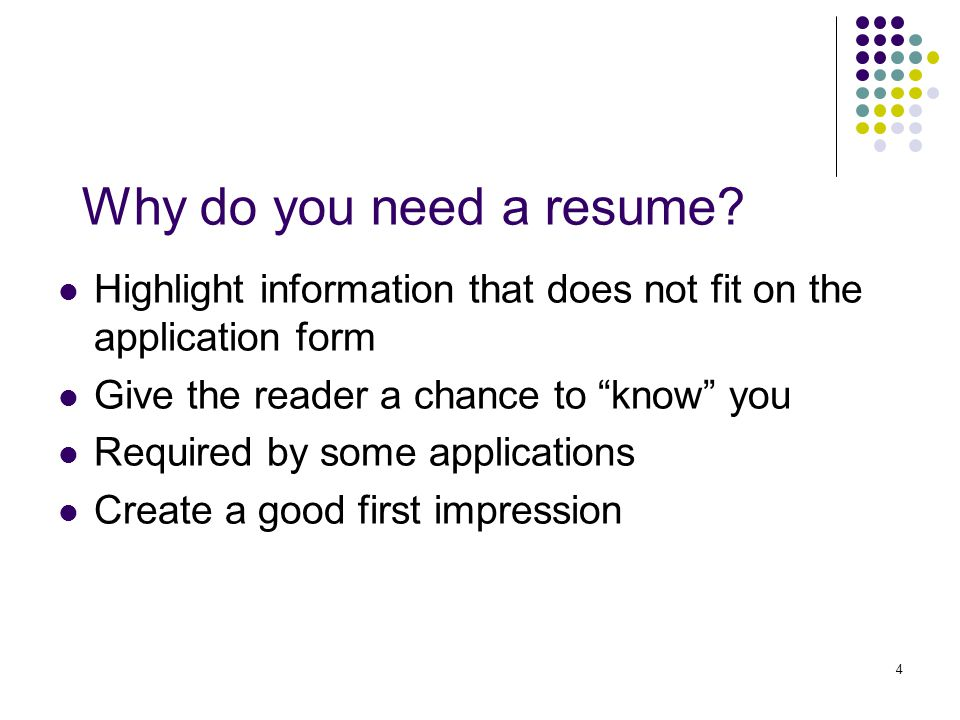 1 Senior Resumes 2 Agenda Purpose Learn Basic Format Of A Resume