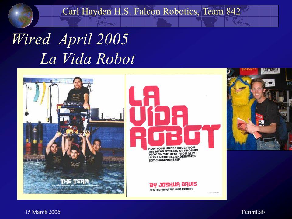 Carl Hayden H S Falcon Robotics Team 842 Education Under Pressure