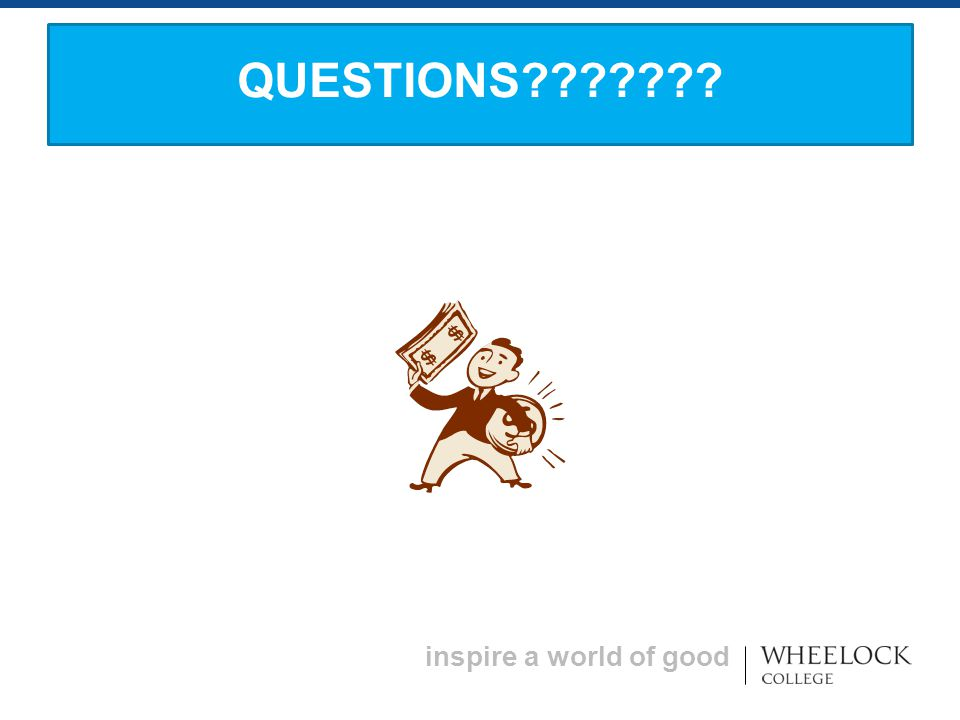 inspire a world of good QUESTIONS