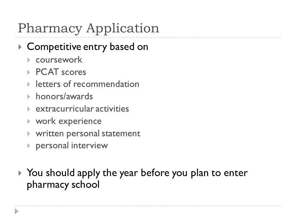 Pre Pharmacy Update Meeting Spring Pharmacy School Checklist