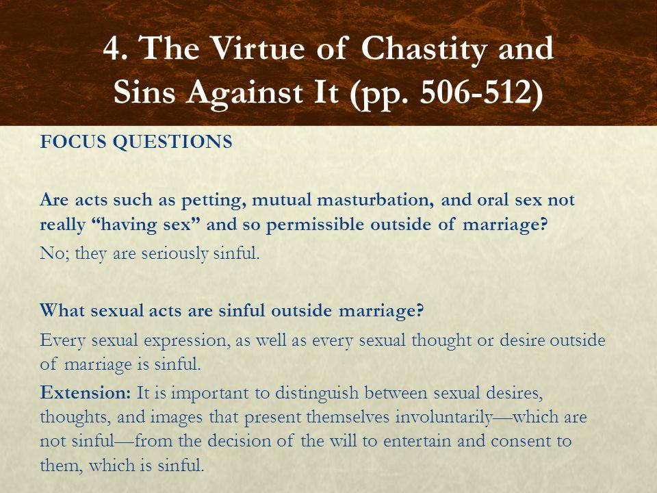 Catholic mutual masturbation