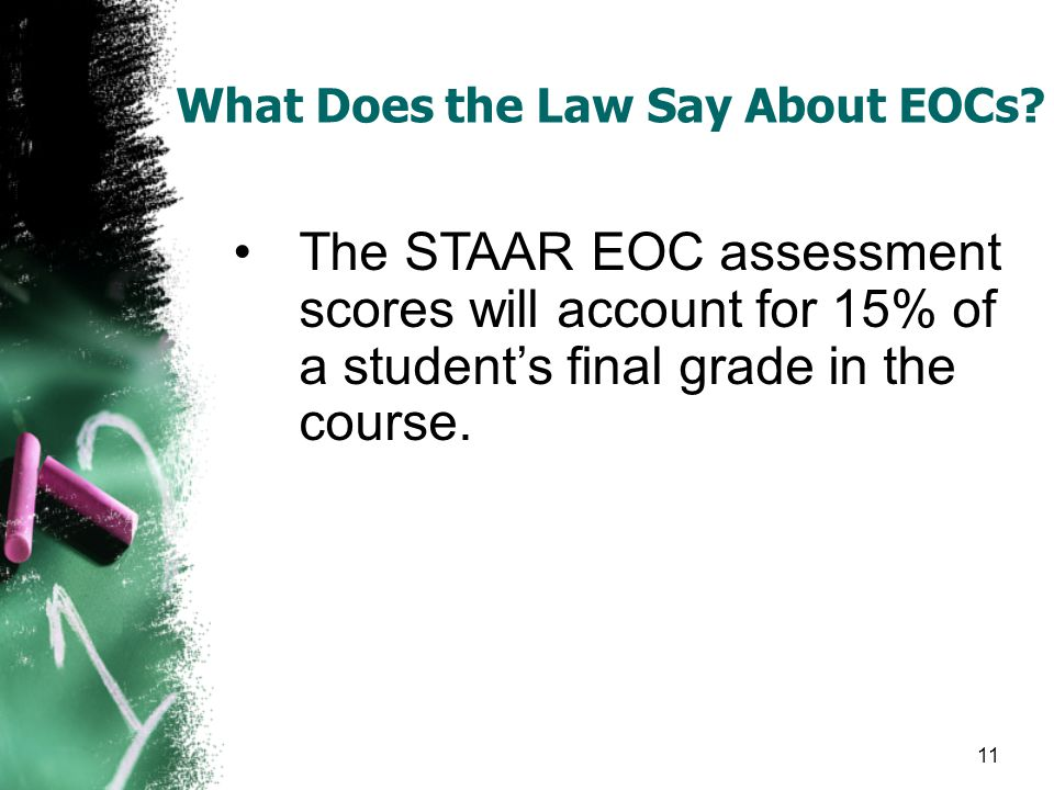What Does the Law Say About EOCs.