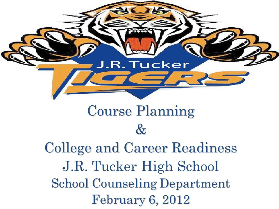 Course Planning & College and Career Readiness J.R.