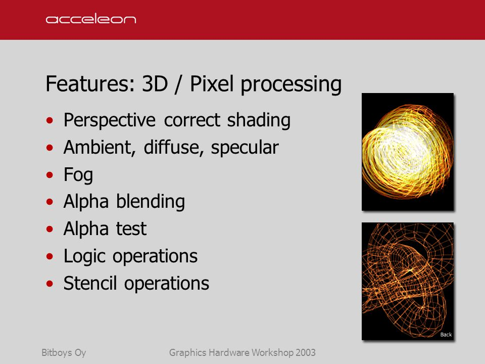 G30™ A 3D graphics accelerator for mobile devices Petri Nordlund CTO