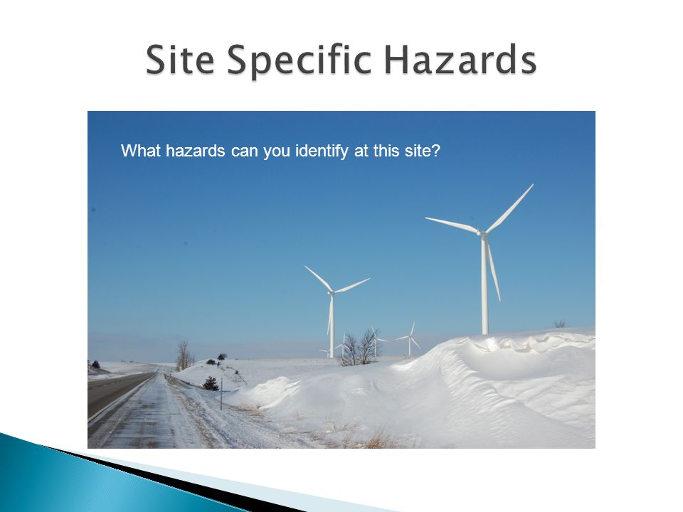 What hazards can you identify at this site
