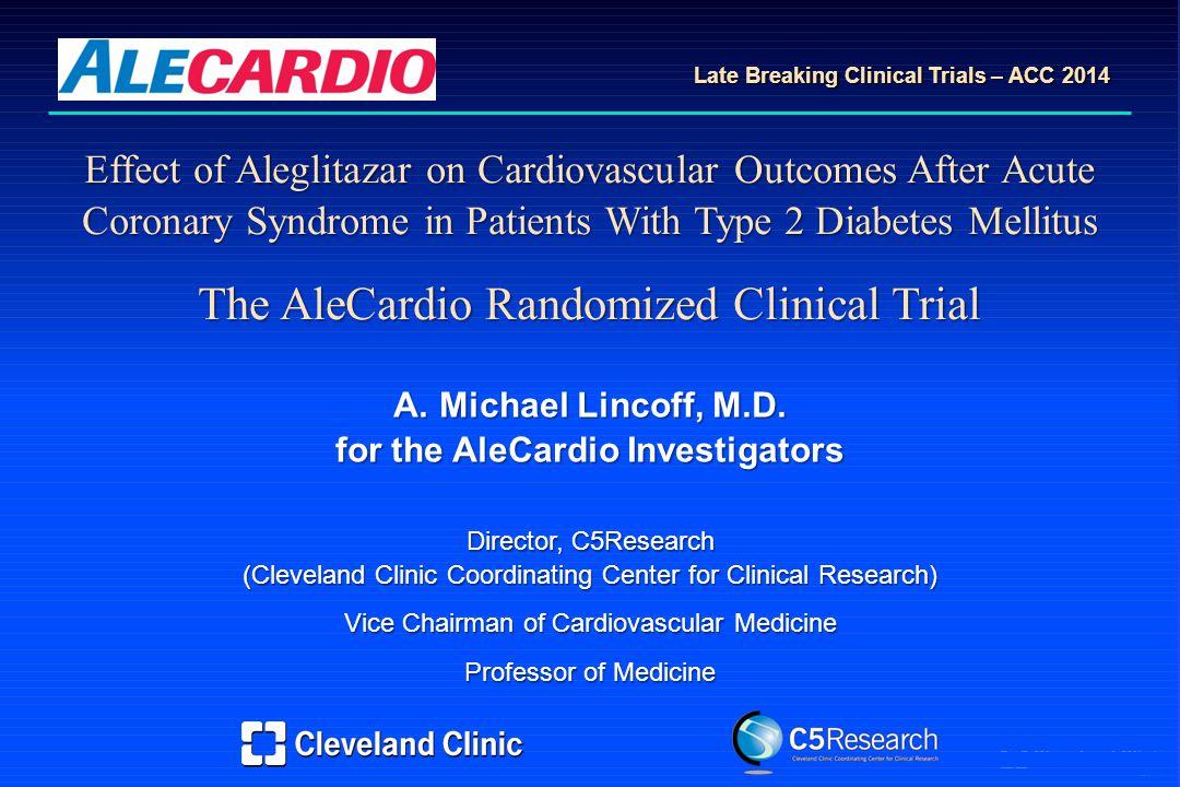 AML Effect of Aleglitazar on Cardiovascular Outcomes After