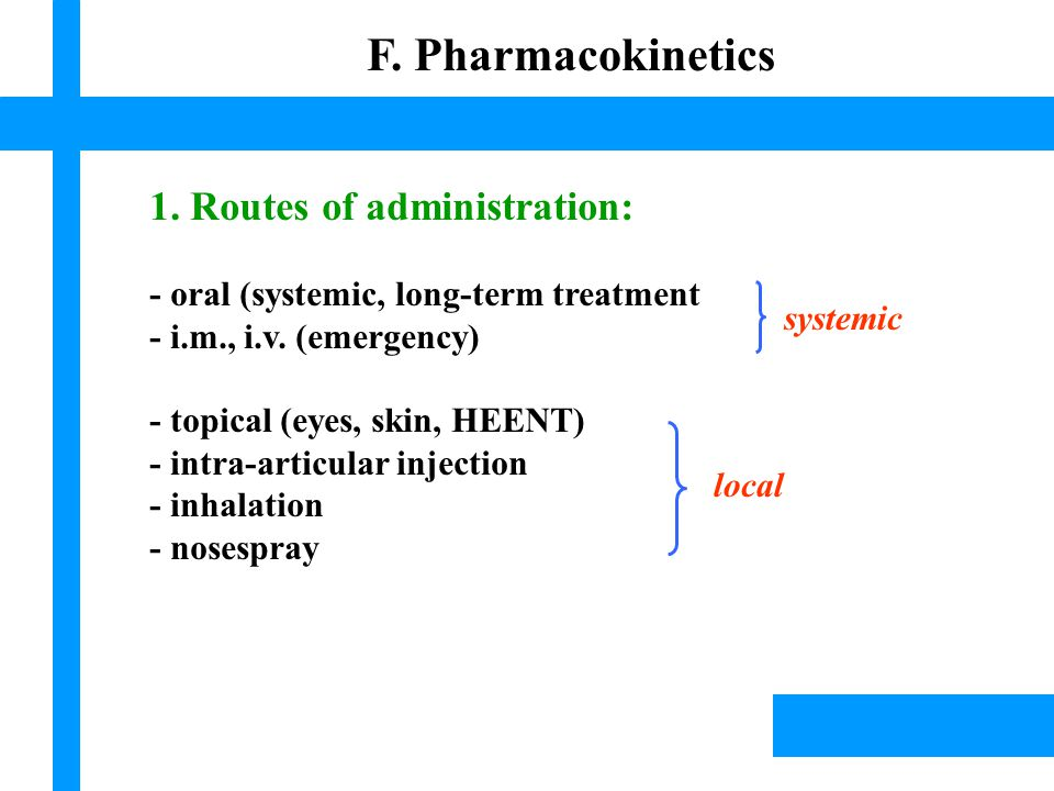 Lísek, 2003 F. Pharmacokinetics 1.