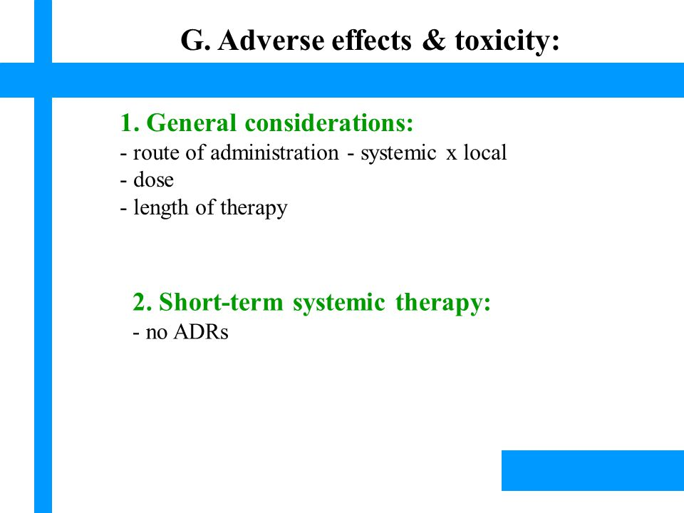 Lísek, 2003 G. Adverse effects & toxicity: 1.