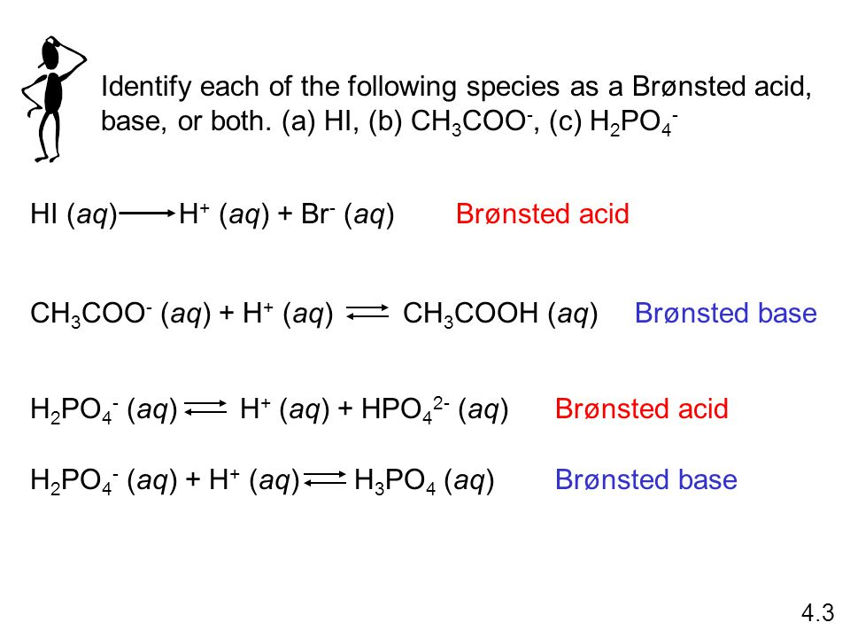 Identify each of the following species as a Brønsted acid, base, or both.