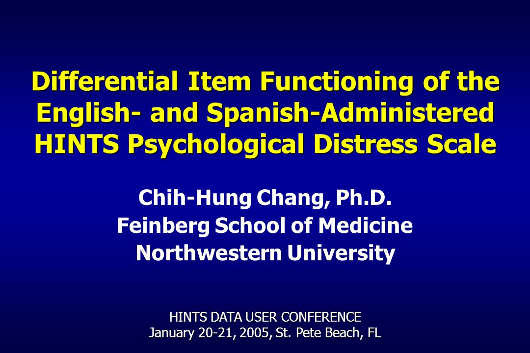 Differential Item Functioning of the English- and Spanish