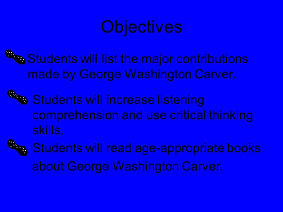 george washington carver the peanut man by iona james ppt download