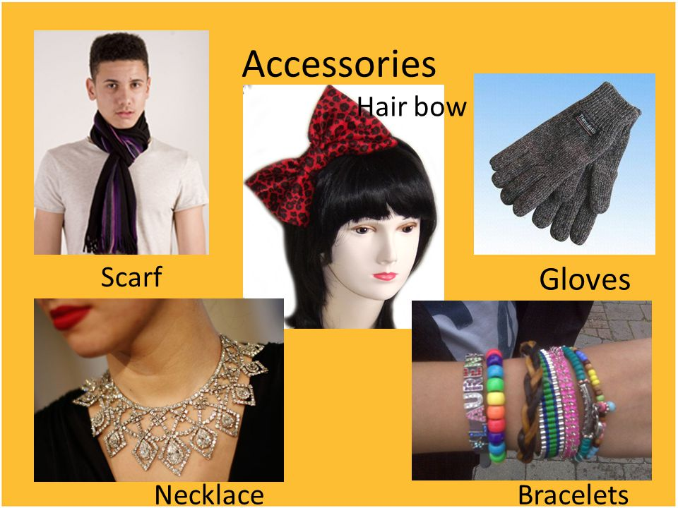 Accessories Scarf Hair bow Gloves NecklaceBracelets