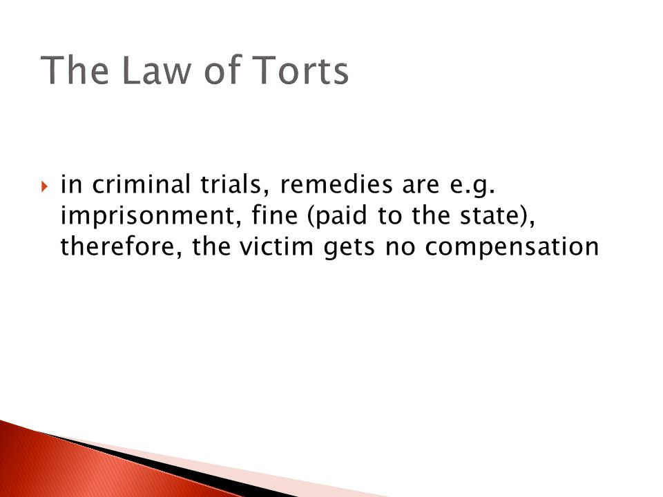  in criminal trials, remedies are e.g.