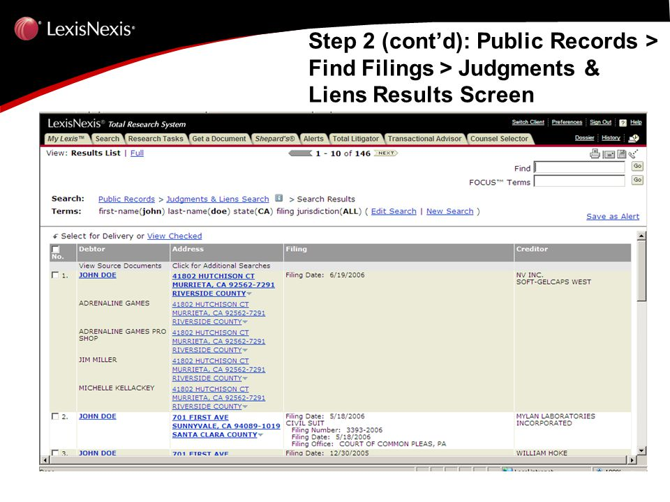 Public Record Research System