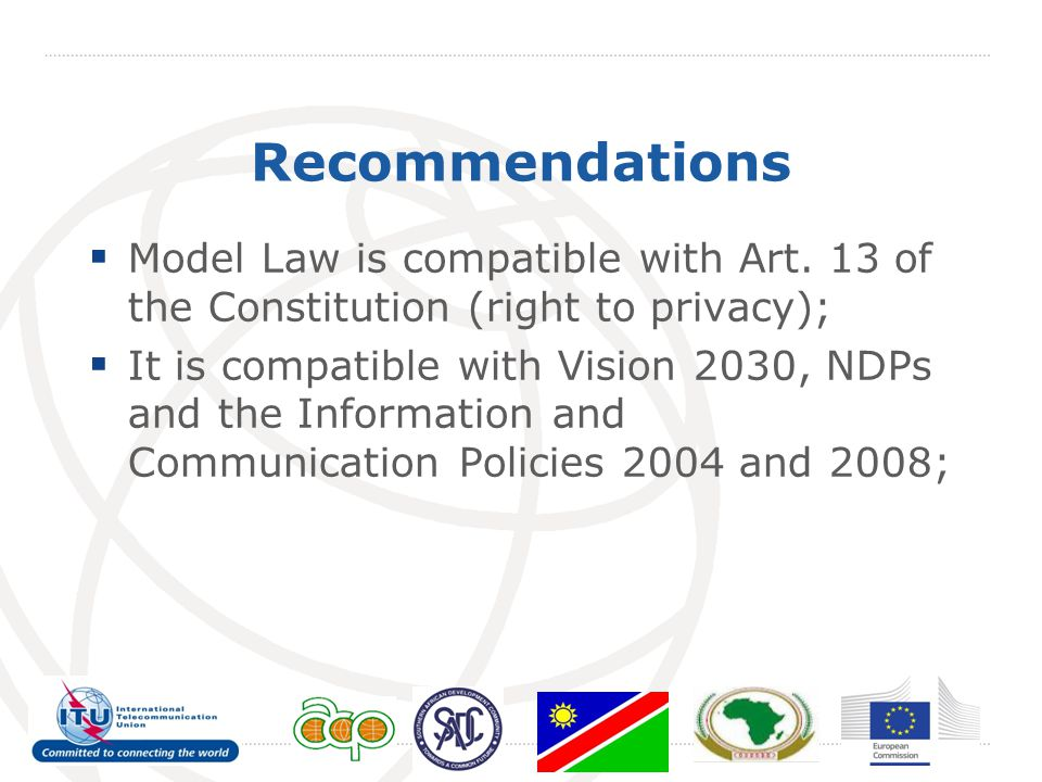 Recommendations  Model Law is compatible with Art.