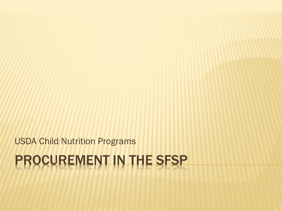 USDA Child Nutrition Programs