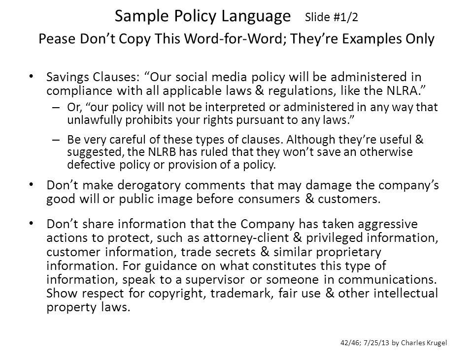 4246 72513 by charles krugel sample policy language slide