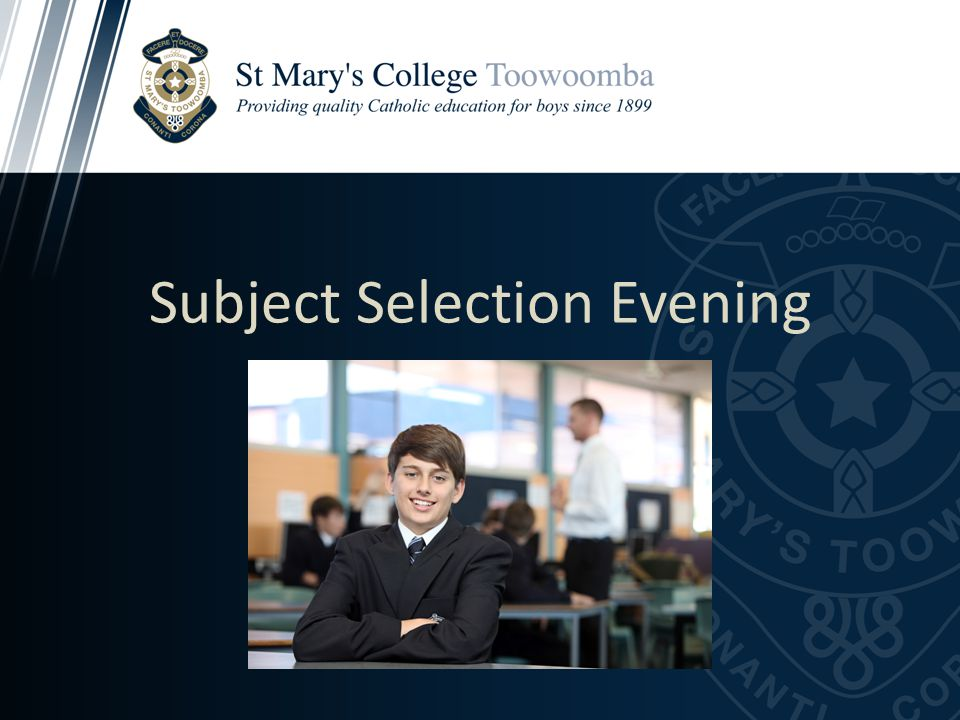 Subject Selection Evening  Senior Education Options