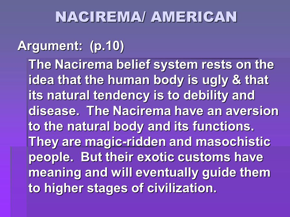 nacirema analysis
