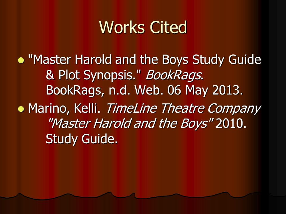 master harold and the boys 2010