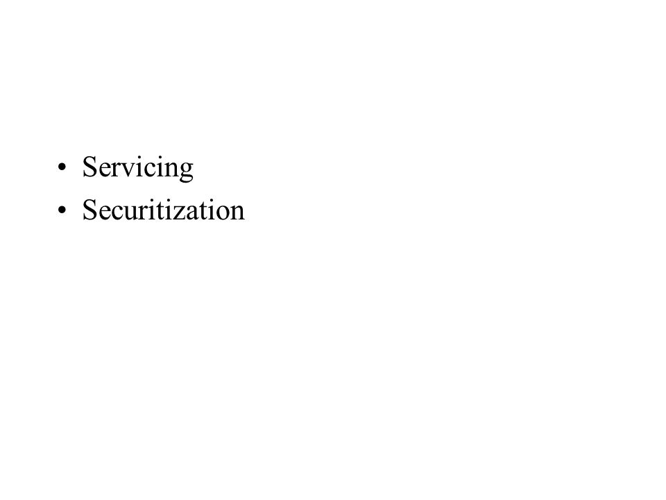 Servicing Securitization