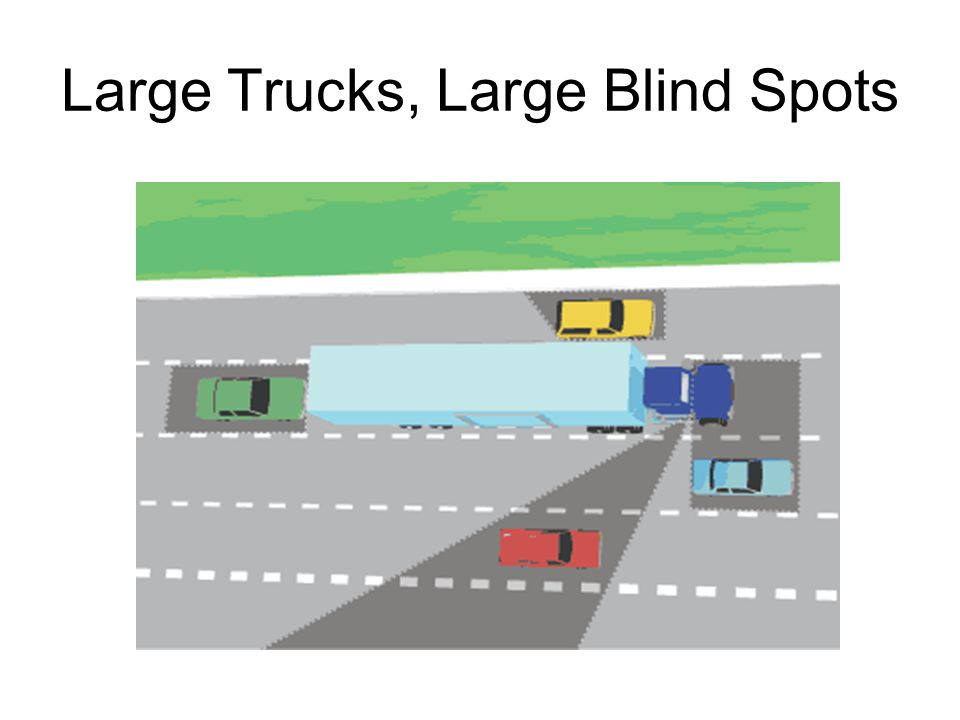Large Trucks, Large Blind Spots