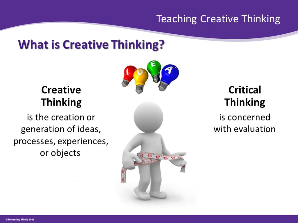 creative thinking research paper Creative thinking prevents stagnation and keeps the business moving forward, ahead of the competition provocation is a process where you intentionally reject a truism to help stimulate creative thought for instance, you may pose the premise that getting rid of all of your business's.
