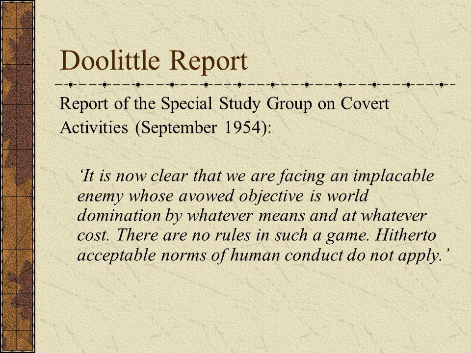 Doolittle Report, 1954