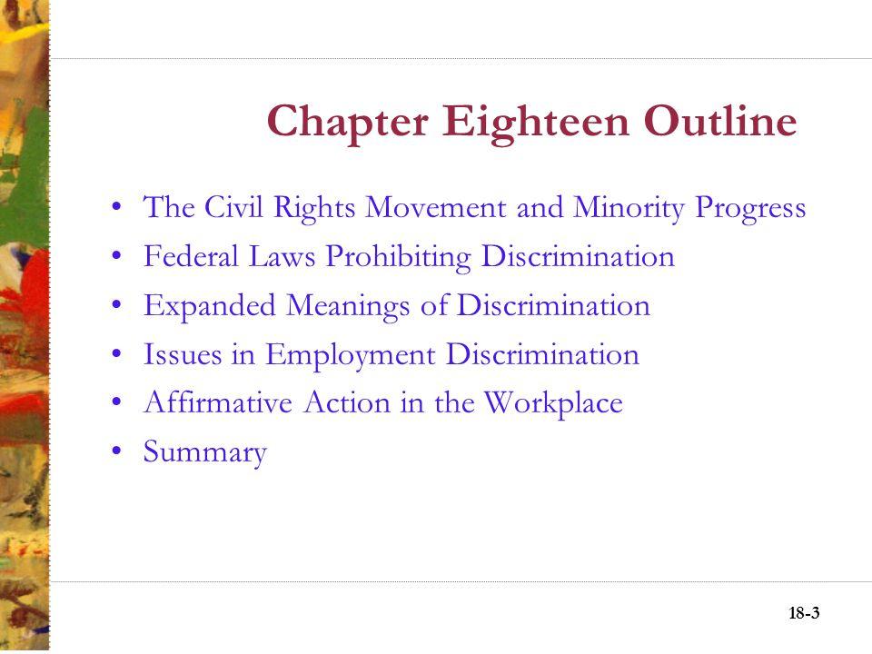 Discrimination laws sex or minorites
