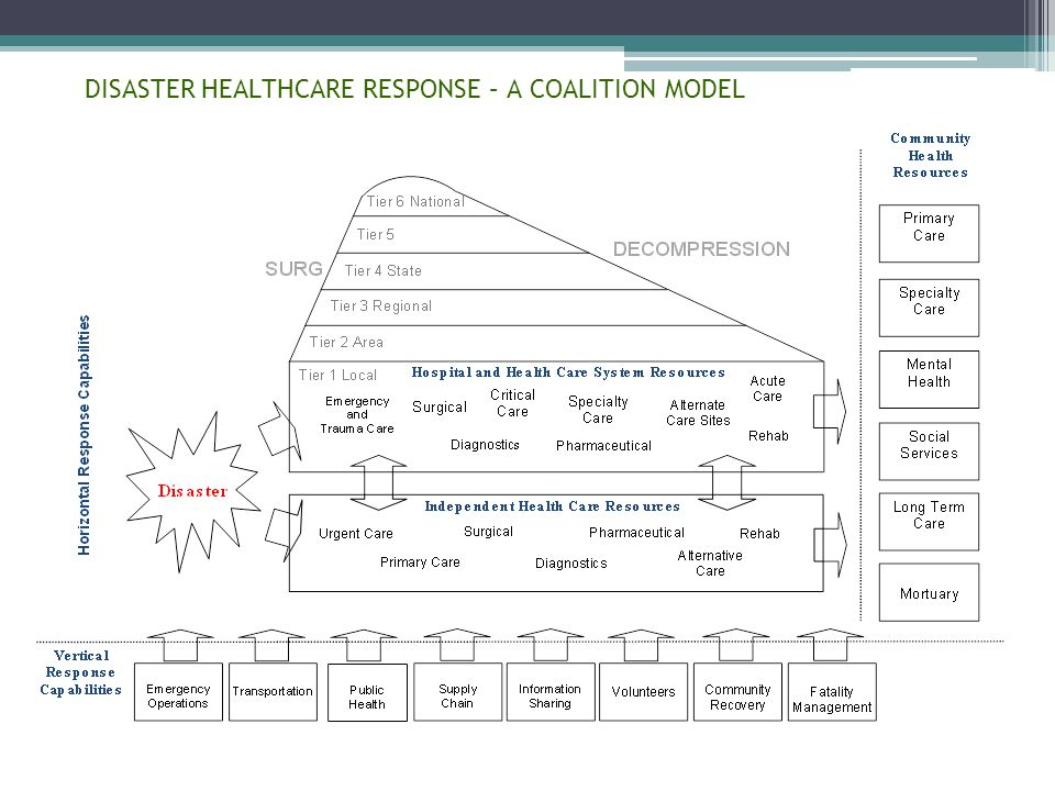DISASTER HEALTHCARE RESPONSE – A COALITION MODEL 5