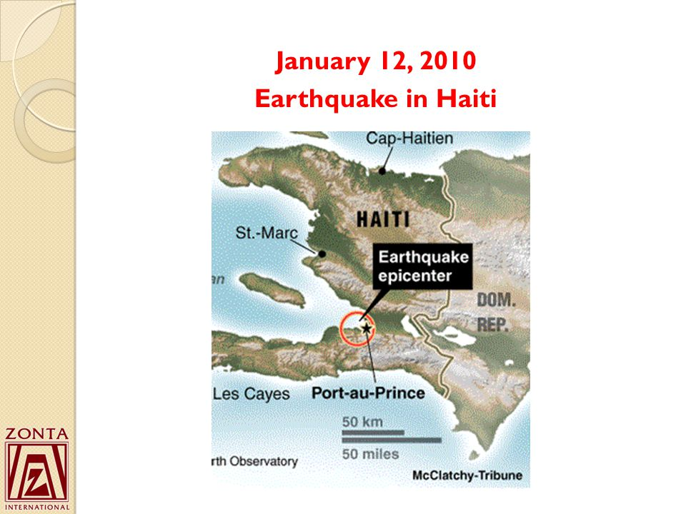 January 12, 2010 Earthquake in Haiti